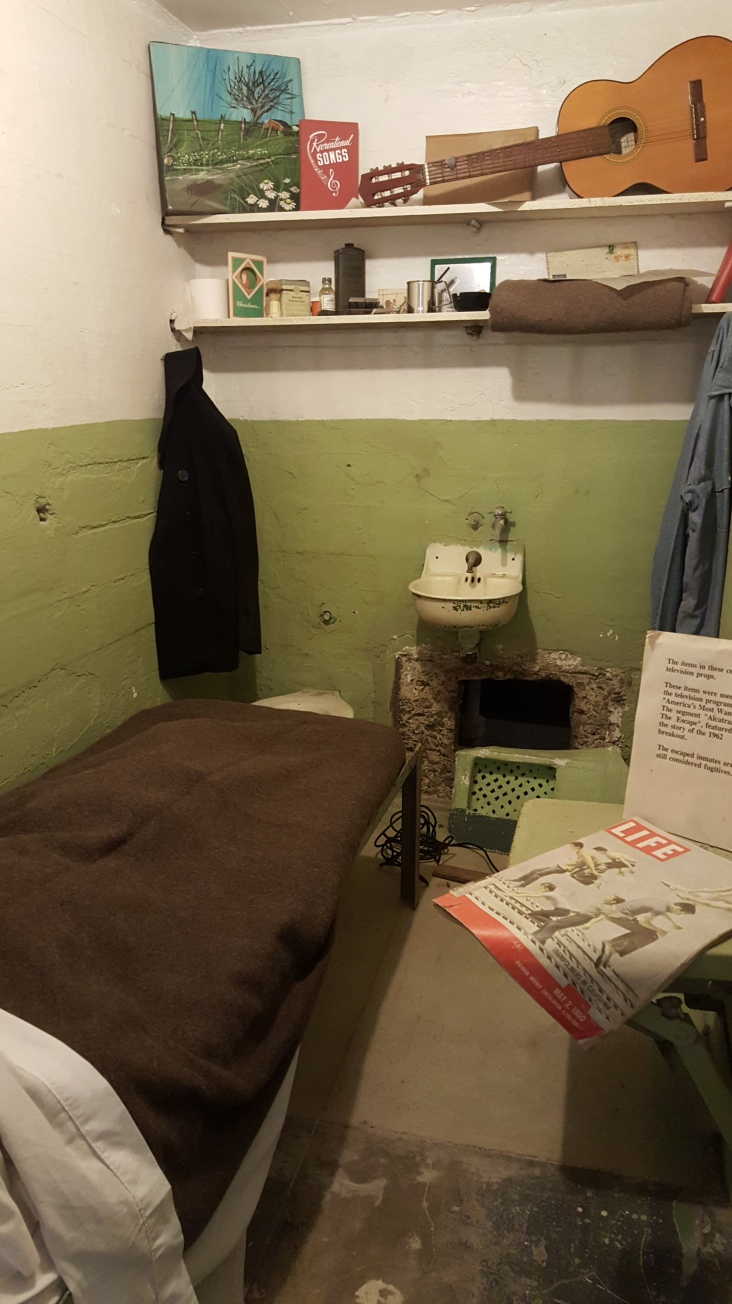 Inmate cell showing how they escaped